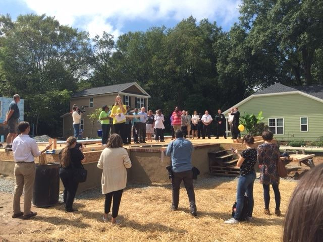 Habitat Wall Raising Northside